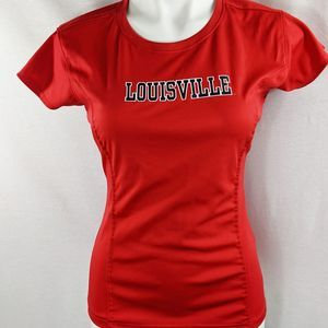 UofL Louisville Kentucky exercise dry fit shirt M